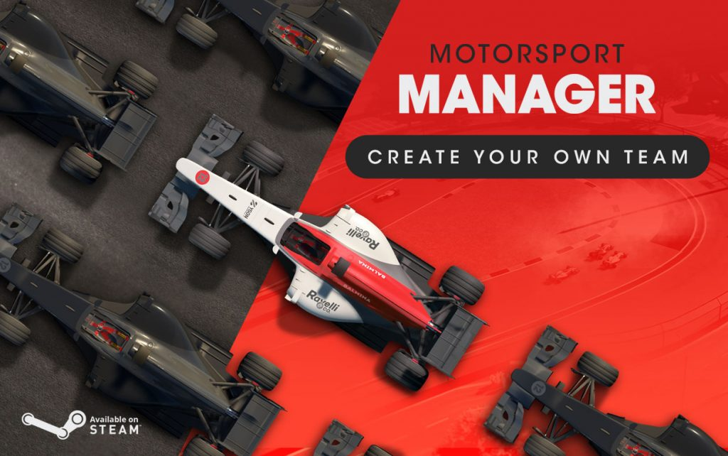 MOTORSPORT MANAGER PC – CREATE YOUR OWN TEAM PACK RELEASED
